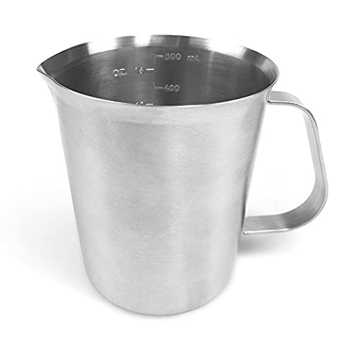 Milk Frothing Pitcher Jug, JoyFork Stainless Steel For Espresso Coffee, Milk Frother Latte Art Measuring Cup.500ML