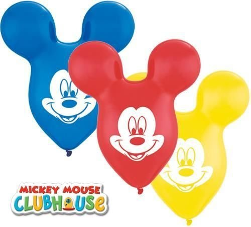 Mickey Mouse Kopf/Ohren Geformt 38.1cm Qualatex Latexballons x 10 (Minnie Kopf Ballons Maus)