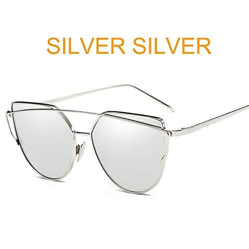 BUYAOAQ Frauenbrillen Aus Rosafarbenem Spiegel, Sonnenbrillen, Damen Aus Metall, Reflektierende Flache Gläser, Q