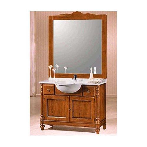 Estea mobili - mobile bagno arredo legno massello arte povera classico con specchiera - 121090048472 - come foto
