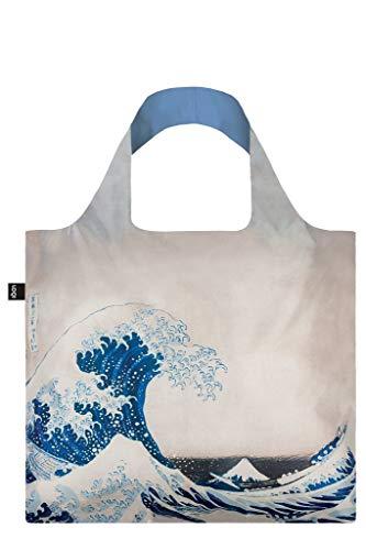 LOQI Museum Hokusai The Great Wave Bag Borsa da spiaggia, 50 cm, 20 liters, Multicolore (Multicolour)