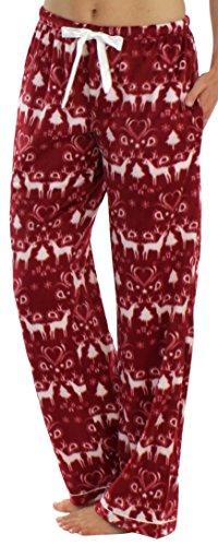 - 41s7zTb5VfL - Frankie & Johnny Women's Sleepwear Plush Fleece Pyjama Pants