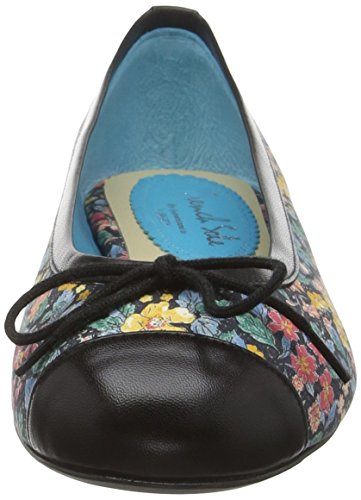 French Sole - Henrietta Toe Cap Prince George Liberty Print - Ballerines - Femme Noir