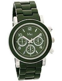 M&c FC0361 - Reloj para mujeres, correa de metal color verde