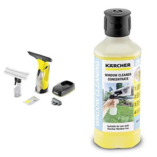 Kärcher Akku-Fenstersauger WV 5 Plus Non Stop Cleaning Kit + Kärcher Glasreiniger-Konzentrat RM 503, 1 Stück, 6.295-840.0