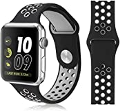 MARGOUN for Apple Watch Band 40mm 38mm Soft Silicone Sport Band Replacement Wrist Strap Compatible for iWatch