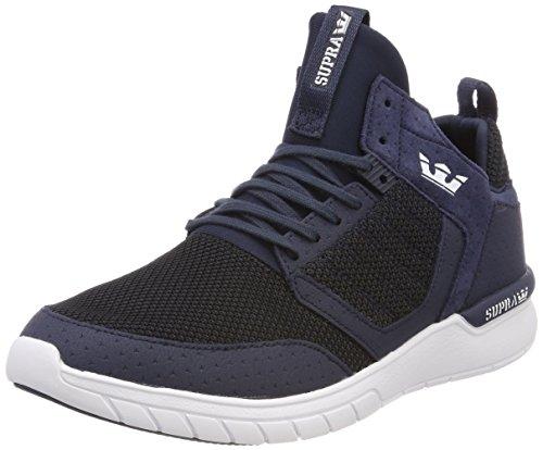 Supra Herren Method Sneaker, Blau (Navy/Black-White), 44 EU (Low Tops Supra Blau)