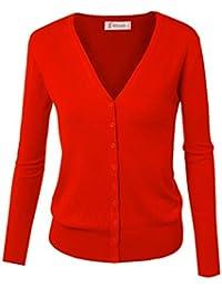 Cardigan básico con cierre de botones, para mujer