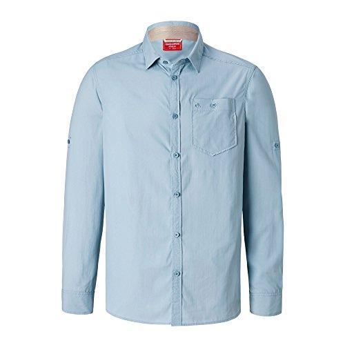 Craghoppers Herren Tatton NosiLife Langarm Hemd (XL) (Fogle Blau)