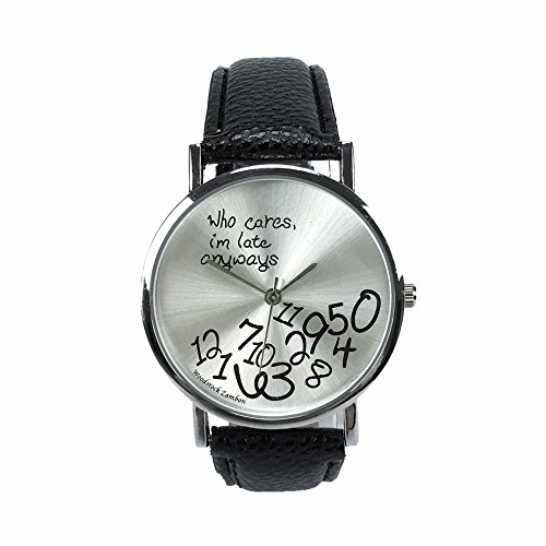 Woodstock Zambon - Orologio 'Who cares, I'm late anyways'