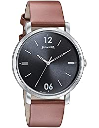 Sonata Analog Black Dial Men's Watch-7142SL02
