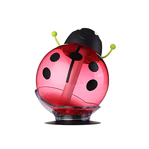 Bangweier Alimenté par USB Funny Beatles Maison de voiture Mini Aroma LED humidificateur Diffuseur d'air purificateur d'atomiseur Coccinelle Dessin animé