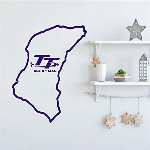 Neue Spezielle Kreative Wandaufkleber Isle Of Man Track Wandbild Home Wohnzimmer Kunst Dekorative Vinyl Wandbild 51 * 57 cm