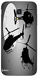 Snoogg Helicopters Silhouettes Designer Protective Back Case Coverfor Samsung...