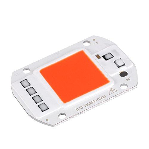 Fdit 50 Watt LED COB Lampe Licht Strahler AC 220 V 6040 COB Chip Lichtquelle passt für DIY LED Scheinwerfer Flutlicht Lampe Energiesparende Chip(rot) -