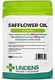 Lindens Capsule di olio di cartamo da 300 mg | 100 Confezione | Contiene il 50% di CLA (acido linoleico coniugato), integratore alimentare diffuso tra i più magri in una capsula a rilascio rapido, facile da ingerire
