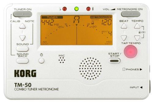 KORG TM-50, Chromatisches Stimmgerät / Tuner und Metronom, weiß