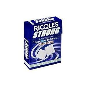 Ricqlès Strong Extra Strong-Mint Taste Sugar Free Chewing-Gum 24g