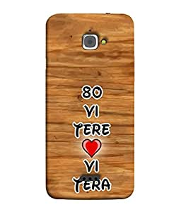 PrintVisa Roamntic Quote 3D Hard Polycarbonate Designer Back Case Cover for InFocus M350