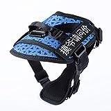 njhswlti Brustgurt für Hunde mit Tierbedarf explosionsgeschütztes atmungsaktives Zugseil aus Netztuch blau