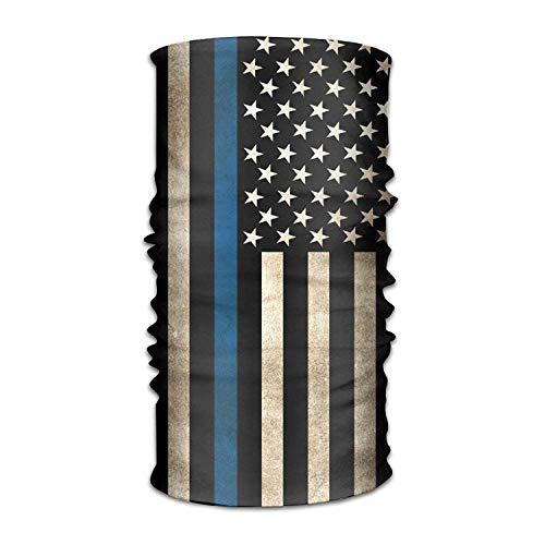 (Unisex Stylish Thin Line Flag USA American Quick Dry Microfiber Headwear Outdoor Magic Bandana As Neck Gaiter Head Wrap Headband Scarf Face Mask Ultra Soft Elastic One Size)
