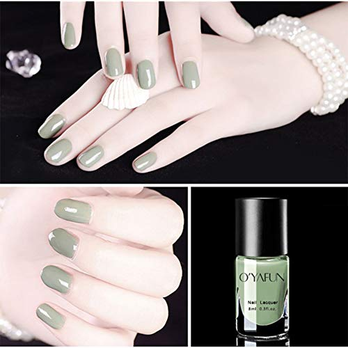 LanLan 8ml Nagellack auf Wasserbasis Peelable Spiegeleffekt Nude Series Polish Manicure Nail Art S20 (Liebe Matcha) Normale Spezifikationen S20 Serie