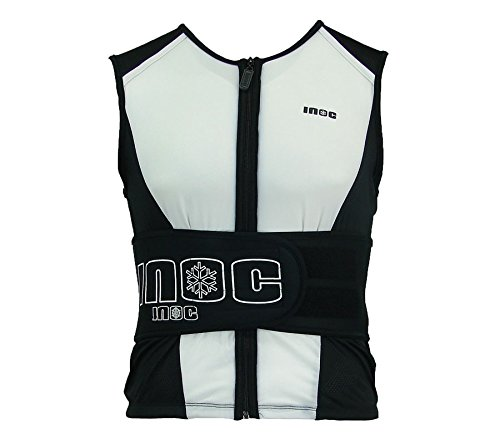 INOC Rückenprotektorweste Weste Unisex Schutzweste Rückenschutz Weiß , Größenauswahl:M