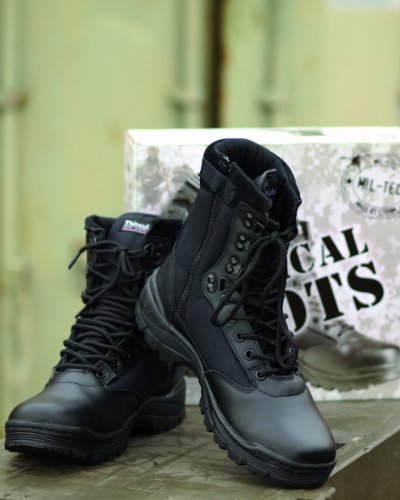 Tactical Boots Zipper schwarz Gr.38