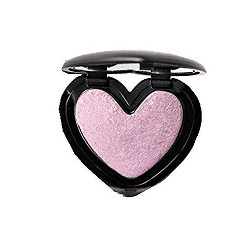 Webla Highlight Poudre Palette en Forme de Coeur Lueur Pressée Mise en évidence Contour Beauté Maquillage Poudre pour le Visage Miroitement Anti-cernes (04#)