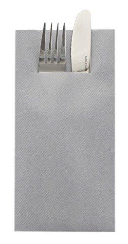 Sovie Home Linclass®Airlaid Besteck Servietten Uni   Grau   Ideal geeignet für Hochzeit & Geburtstag   40x40cm   12 Stück
