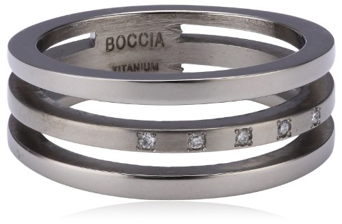 Boccia Damen-Ring Titan 5 Brillianten 0,025 Gr.52 0128-0352