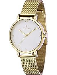 Fjord Analog White Dial Women's Watch - FJ-6019-33