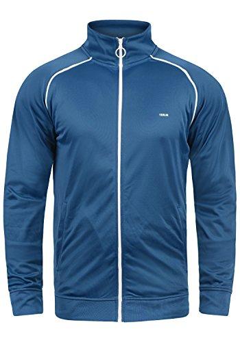 !Solid Leander Herren Sweatjacke Cardigan Ohne Kapuze Mit Reißverschluss Stehkragen Und Fleece-Innenseite, Größe:M, Farbe:Palace Blue (5612)