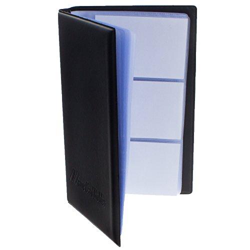 Smartfox Visitenkartenmappe Visitenkartenetui für bis zu 240 Karten (max. Kartengröße: 5,5 cm x 9 cm) 40 Sichthüllen in schwarz