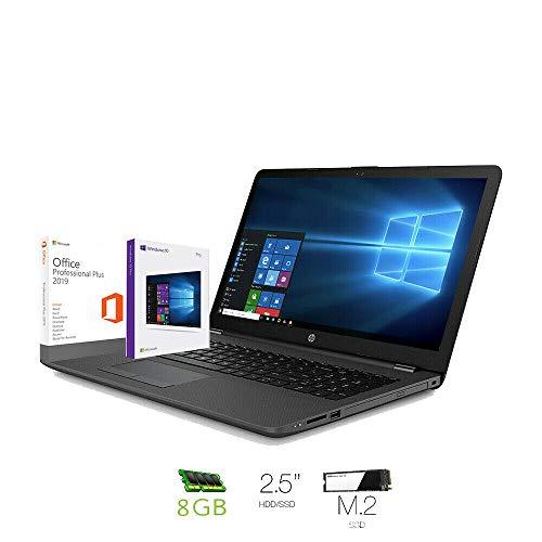 Hp 250 g7 Notebook intel core i3 7020U, Ram 8Gb Ddr4,Ssd M.2 240 Gb ,Hdd 500 Gb,Display 15.6'Hd antiriflesso,Pc portatile Windows 10 Professional