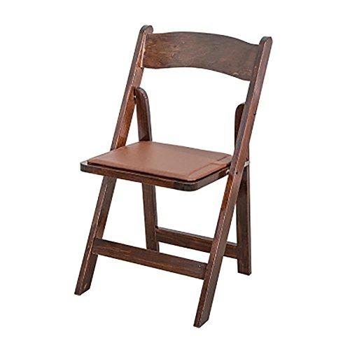 KSUNGB Klappbarer Stuhl aus Holz Ergonomie Essensstuhl Restauranthocker Lounge-Sessel Balkonstühle...