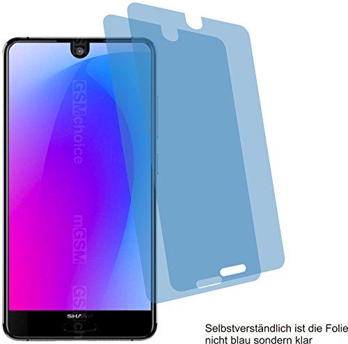 Sharp Crystal Case (2x Crystal clear klar Schutzfolie für Sharp Aquos S3 mini Displayschutzfolie Bildschirmschutzfolie Schutzhülle Displayschutz Displayfolie Folie)