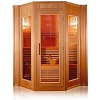 Sauna Finlandese da L200x208x200H per 5 persone con stufa