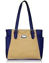 Fantosy Grey And Beige Women Shoulder Bag (FNB-723) (Beige And Blue)