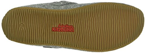 Living Kitzbühel Unisex-Erwachsene Pantoffel mit LK Schnalle Pantoffeln Grau (hellgrau 620)