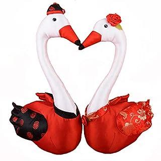 ZQYY Suministros de boda Ganso Felpa juguete Muñeca de pareja Sala de bodas dormitorio decoración Regalos de boda Regalo de amante