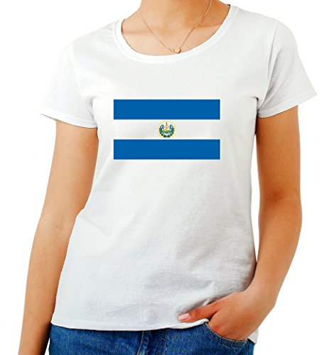 T-Shirtshock - T-shirt Frauen TM0186 El Salvador flag, Größe S (El Salvador Flag Tshirt)