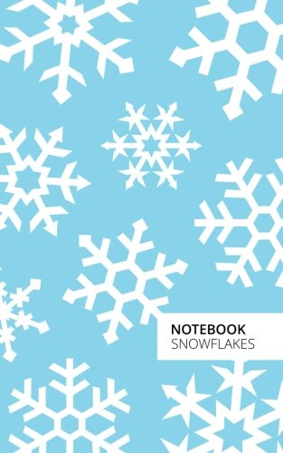 Notebook Snowflakes (Christmas): Fun notebook/jotter with 96 ruled/lined pages - A5/5x8 inches/12.7x20.3cm/Junior Legal Pad