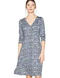 b3ce43f7739a Principles Womens Grey Snake Print Jersey Knee Length Dress