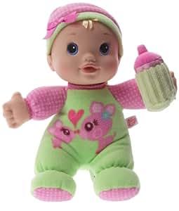 Hasbro - Baby Alive - 19141 - Eveil - Ma Première Baby Alive - Poupee verte avec bonnet rose et biberon
