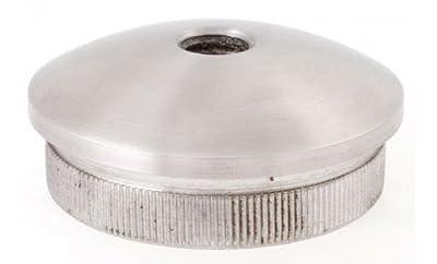 Endkappe gewölbt mit M8 Gewinde vollmassiv für Rohr 33,7 x 2,0 mm - V2A (S011184) von Edelstahldiscounter auf Du und dein Garten
