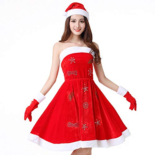 Olydmsky Weihnachtskostüm Damen,Weihnachtskostüme, -