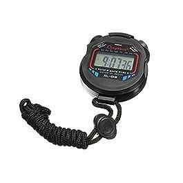 Newin Star – Timer, cronometro sportivo multifunzione, cronografo digitale elettronico (batterie incluse)