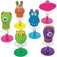 Baker Ross- Figuras saltarinas de monstruos (Pack de 6) -Regalos infantiles para bolsas de cotillón