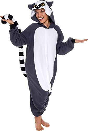 Sweetheart -LMM Fleece-Einteiler Lemur Kigurumi Cosplay Kostüme Jumpsuit, XL